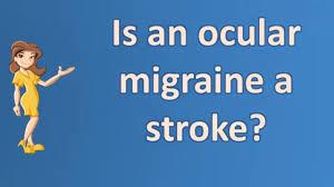 flashing lights in eye stroke is an ocular migraine a stroke best health faq channel youtube