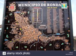 Andalucia Spain Map by Map Of The Municipality Of Ronda Andalucia Spain Stock Photo