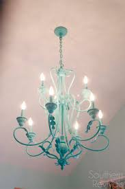 Chandelier Makeover Hand Painted Chandelier Makeover Southern Revivals