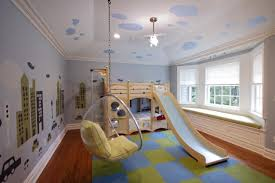 kids bed with slide in modern gallery king size canopy bedroom