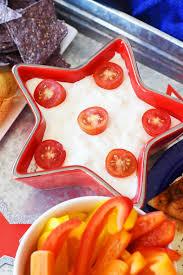 Summer Lunch Ideas For Entertaining - patriotic dip appetizer for summer entertaining