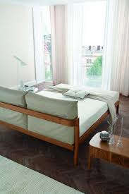 double bed contemporary wooden milano zanette