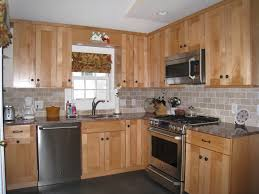kitchen backsplash with oak cabinets and white appliances cabinets the painter us