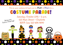 Happy Birthday Halloween Pictures Favorites Party Invitation Party Invitation Costume Parade
