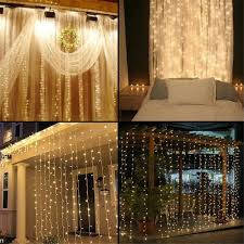 supli 300 led window curtain string light for wedding party home