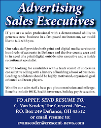 recruitment specialist resume advertising sales executive job in defiance oh 43512 the
