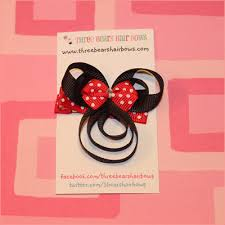 mickey mouse hair bow mickey or minnie mouse inspired clippies