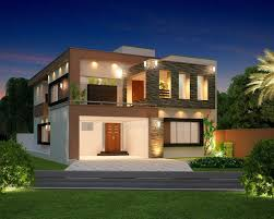 10 Marla Modern Home Design 3D Front Elevation Lahore Pakistan