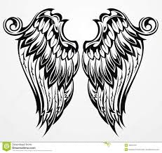 tattoo wings stock vector image 43594781