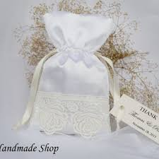 lace favor bags wedding favor bag baby shower favor from teomil on etsy