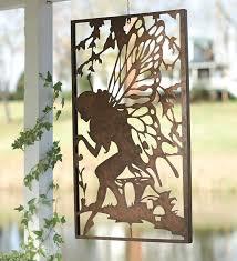 Garden Metal Decor Wall Art Designs Outdoor Wall Art Metal Windweather Metal Fairy