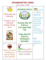 printable preschool newsletter template