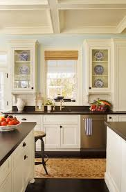 Cream Kitchen Cabinets With Blue Walls Family Home Home Bunch U2013 Interior Design Ideas
