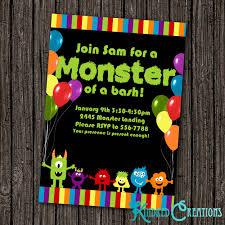 monster invitation invitation archives kindred creations