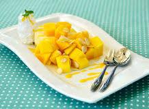 homemade mango cheesecake stock photo image of fruit 92187288