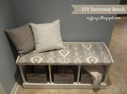Diy Entryway Bench With Storage Bench Entryway Storage Stunning How To Build A Mudroom Bench