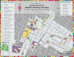 touristic map of medellin walking tour map medellincolombia co