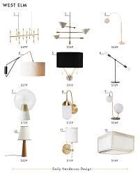 west elm ceiling light my favorite 37 online lighting resources emily henderson