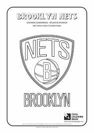 nba lakers coloring pages cool coloring pages nba teams logos brooklyn nets logo