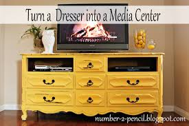 How To Turn A Dresser Into A Bookshelf Vintage Dresser Into Media Center No 2 Pencil
