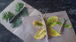 a leaf butterfly art project for you and your little ones