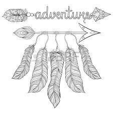 boho chic ethnic arrow with feathers dreamcatcher