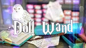 diy how to make doll harry potter wand handmade doll