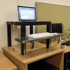 desktop to make standing desk decorative desk decoration