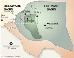 Permian Basin Map Exxonmobil Bets Big On Southeast New Mexico Albuquerque Journal