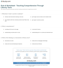 reading comprehension vocabulary worksheets worksheets