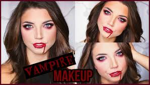 glamorous vampire makeup halloween tutorial youtube