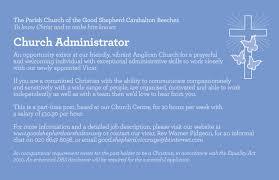 Church Administrator Administrator Advert U2013 The Good Shepherd Carshalton U2013 February