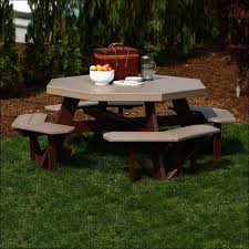 Build A Heavy Duty Picnic Table by Exteriors Hexagon Picnic Table Kit Plastic Picnic Tables Build