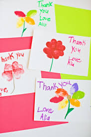 kid cards hello wonderful kid made stamped flower thank you cards