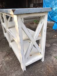 ana white second rustic x console table build diy projects