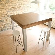 table haute cuisine design grande table haute design noyer alu pas cher priceminister