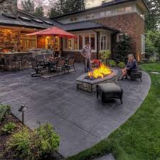 Cost Of Stamped Concrete Patio by Beautiful Backyard Cement Patio Ideas Concrete Patio Design Ideas