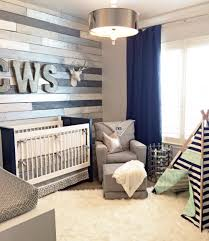Navy Accent Wall by Design Reveal Metallic Wood Wall Nursery Wood Wall Nursery