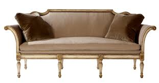 Settees Furniture Bergamo Settee Traditional Transitional Settees Dering Hall