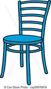 chaise bleue chaise bleue classique chaise bleue dessin clipart