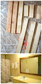 Wood Framed Bathroom Mirrors by Top 25 Best Pallet Mirror Ideas On Pinterest Pallet Mirror
