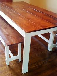 build a rustic dining room table diy farmhouse benches hgtv