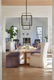 shabby chic dining room design with white panel walls and