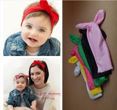 cloth headbands 2016 fashion baby girl headbands rabbit ears bow hair bands