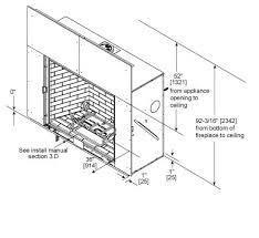 Standard Fireplace Dimensions by Heirloom Series High Efficiency Gas Fireplace Heatilator