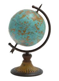 amazon com benzara antique metal globe in a rustic design home