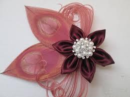 Red Prom Corsage Marsala Wedding Fascinator Burgundy Red Wine Cranberry Flower