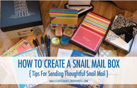gifts to send in the mail happy mail send a thrifty snail mail package small stuff