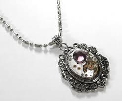 steampunk necklace vintage images Steampunk necklace silver jewel watch steampunk jewelry by jpg