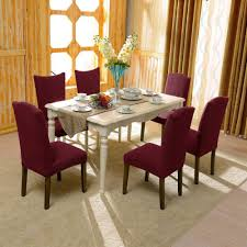 Stretch Dining Room Chair Covers Subrtex Dyed Jacquard Stretch Dining Room Chair Slipcovers